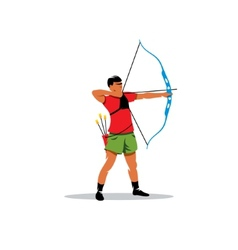 Athlete archery sign vector