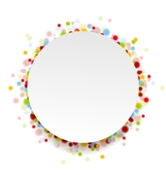 Circle design with shiny light confetti vector
