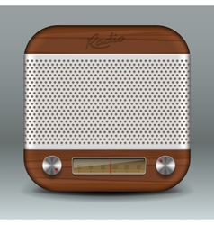 Retro radio app icon vector