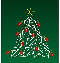 Sales christmas tree vector
