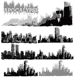 Apocaplyse cities vector