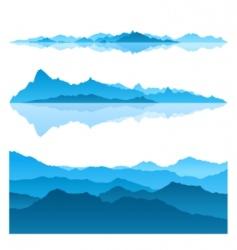 Blue mountains vector
