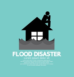 Building soaking under flood disaster vector