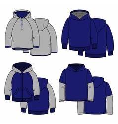 Four hoodies vector