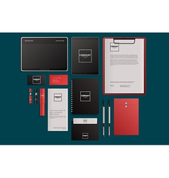 Modern corporate identity template design flat vector