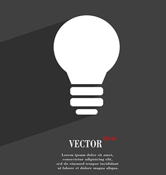Light lamp idea icon symbol flat modern web design vector