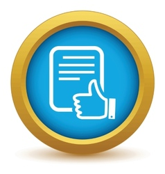 Gold like document icon vector