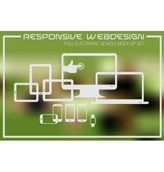 Flat responsive design kit vector