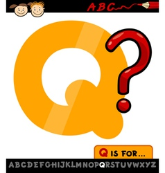 Letter q with question mark vector