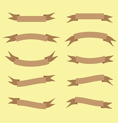 Brown ribbon set vector
