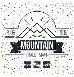 Mountain retro emblem vector