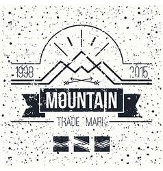Mountain retro emblem vector