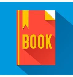 Flat book design concept vector