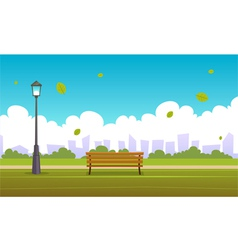 Summer city park vector