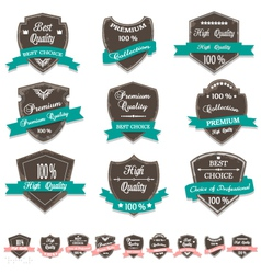 Grunge premium quality labels vector