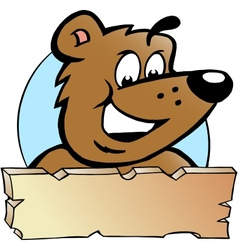 Hand-drawn of an happy proud brown bear - logo vector