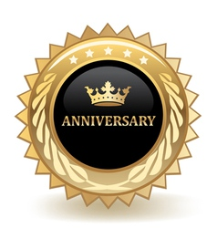 Anniversary badge vector