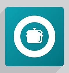 Flat pan icon vector