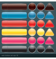 Blank buttons for website and application vector