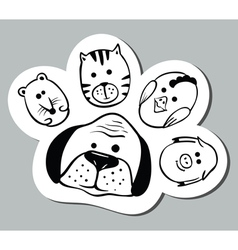 Paw shape vector