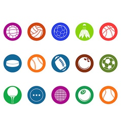 Ball button icons set vector