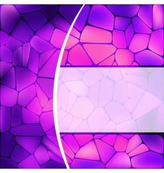 Stained glass design vector