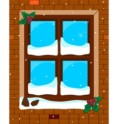 Window blue vector