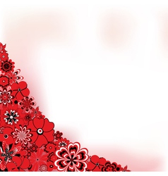 Red flower background vector