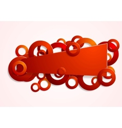 Abstract red banner with circles vector