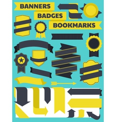 Banners bookmarks badges vector