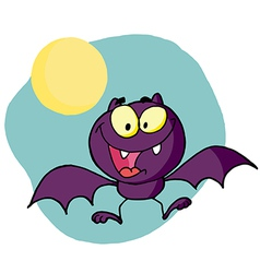 Happy bat vector