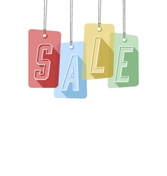 Colorful gift tags or price labels wording sale vector