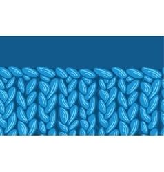 Knit sewater fabric horizontal seamless pattern vector