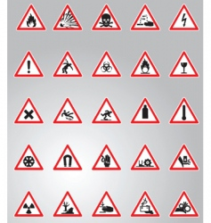 Hazard signs set vector