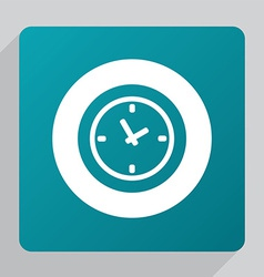 Flat time icon vector