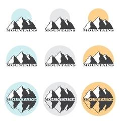 Stock mountains set vector