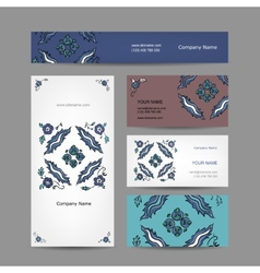 Set of business cards design turkish ornament vector