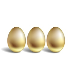 Gold egg concept unique golden eggs vector