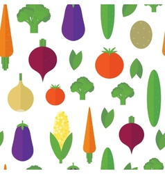 Seamless pattern with vegetables and fruits vector