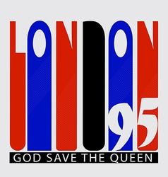 Retro london logo vector