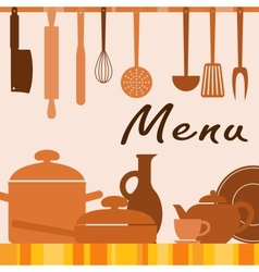 Kitchen background for menu cover vector