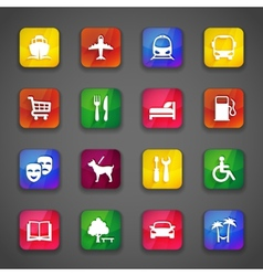 Icons on buttons vector