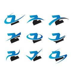 Alphabet z logo icons vector