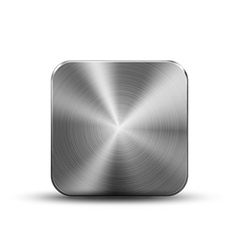 Square button metal vector
