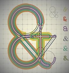 Ampersand construction vector