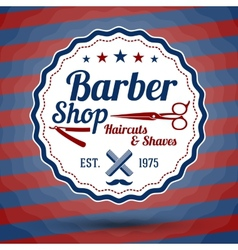 Retro stylized sign for barber shop on vector