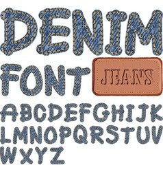 Denim font vector
