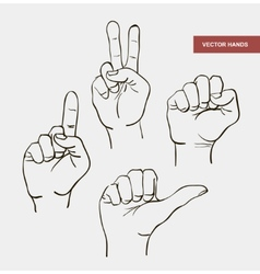 Hand drawn image hands vector