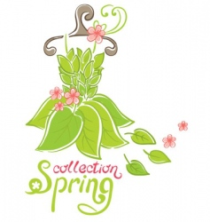 Spring fashion collection vector