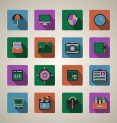 Flat web icons set vector